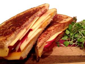 Grilled Kiku and Cheese Sando