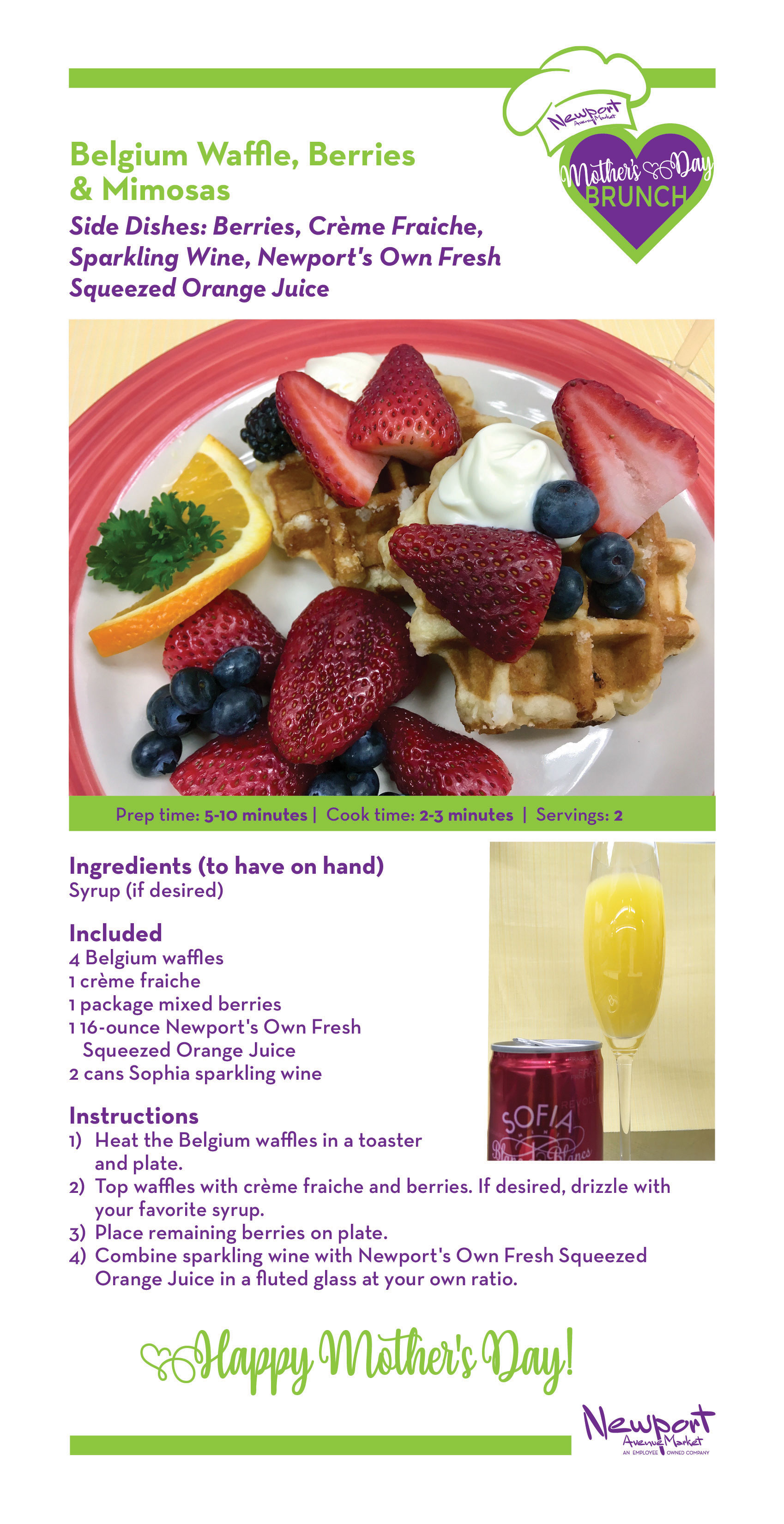 NAM Mother's Day Waffle Menu