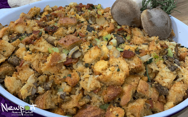 Bacon, Mushroom, and Cornbread Dressing