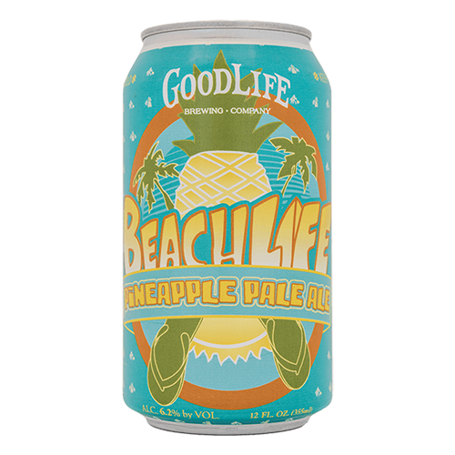 good life brewing Beach life pineapple pale ale